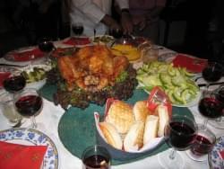 La tradicional mesa navideña chilena